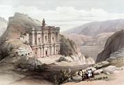 El Deir Petra 1839 Print by Munir Alawi