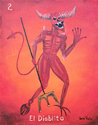 Lottery Mixed Media - El Diablito by Sonia Flores Ruiz