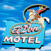 Motel Painting Prints - El Don Motel Day Print by Anthony Ross