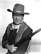 Neckerchief Prints - El Dorado, John Wayne,  1966 Print by Everett
