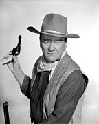 Films By Howard Hawks Framed Prints - El Dorado, John Wayne, 1967 Framed Print by Everett