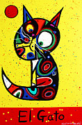 Gato Paintings - El Gato by Chris Mackie