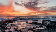 Canary Islands Metal Prints - El Golfo, Sunset, Lanzarote, Metal Print by Travelstock44 - Juergen Held