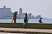 Malecon Prints - El Malecon Print by Maureen J Haldeman