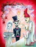 Skulls Posters - El Matrimonio Poster by Heather Calderon