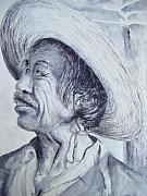 Mexico People Paintings - El Mexicano by Myra Evans