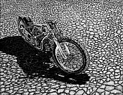 Motorcycle Drawings - El Mirage Indian by Bomonster