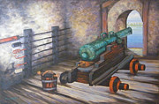 Puerto Rico Originals - El Morro Cannon  by M J Weber