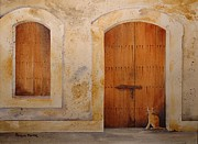 Puerto Rico Paintings - El Morro Felino by Patrick Moyer