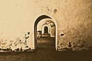 El Morro Fort Barracks Arched Doorways San Juan Puerto Rico Prints Rustic Print by Shawn OBrien