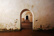 El Morro Fort Barracks Arched Doorways San Juan Puerto Rico Prints Print by Shawn OBrien