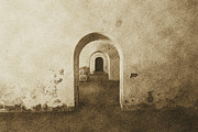 Castillo San Felipe Del Morro Framed Prints - El Morro Fort Barracks Arched Doorways San Juan Puerto Rico Prints Vintage Framed Print by Shawn OBrien