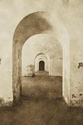 El Morro Fort Barracks Arched Doorways Vertical San Juan Puerto Rico Prints Vintage Print by Shawn OBrien