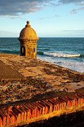 Caribbean Sea Framed Prints - El Morro Fort San Juan Framed Print by Brian Jannsen