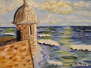 San Juan Paintings - El Morro by Maria Medina