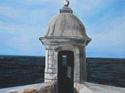 Puerto Rico Paintings - El Morro by Melissa Torres