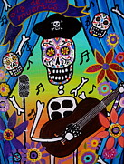 Mexicano Painting Metal Prints - El Musikero Metal Print by Pristine Cartera Turkus