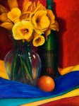 Wine Bottle Paintings - El Nino by Shannon Grissom