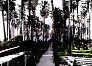 Santa Monica Digital Art Metal Prints - El Paseo Metal Print by San Juanita Alvarado De Vega