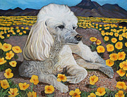 The Tap Paintings - El Paso - Peaches nPoppies by Maritza Jauregui Neely