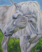 Equine Artist Prints - El Pine Print by Anne West