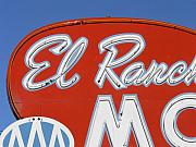 Roadside Art Framed Prints - EL Rancho  Framed Print by David Gianfredi