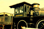 Shows Prints - El Reno Locomotive in Old Tuscon Arizona Print by Susanne Van Hulst