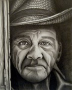 Photo Realism Drawings - El Salvadorian by Arturo Ramirez