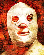 Unique Art Prints - El Santo Print by Juan Jose Espinoza