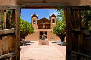 Adobe Framed Prints - El Santuario de Chimayo Framed Print by David Lee Thompson