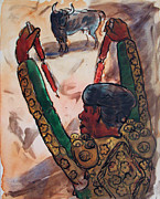 Spectators Paintings - El Torero by Bill Joseph  Markowski