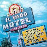 Signage Paintings - El Vado Motel by Anthony Ross