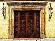 Portal Framed Prints - Elaborate Puerta Framed Print by Olden Mexico