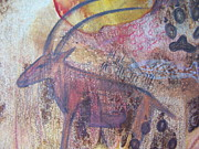 Colored Pencil Metal Prints - Eland Metal Print by Vijay Sharon Govender