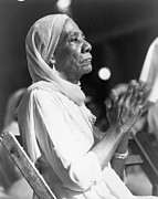 Clapping Metal Prints - Elderly African American Woman Metal Print by Everett