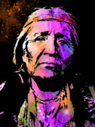 Native Americans Posters - Elderly Hupa Woman Poster by Paul Sachtleben