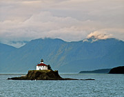 Lighthouse Art - Eldred Rock Lighthouse Skagway by Michael Peychich