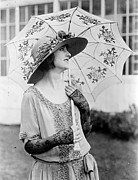 Gorgeous Women Posters - Eleannor Boardman with Parasol Poster by Padre Art