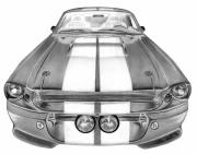 Charcoal Car Framed Prints - Eleanor Inverted Framed Print by Peter Piatt