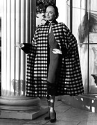 Cape Buffalo Prints - Eleanor Parker Wearing A Checkered Print by Everett
