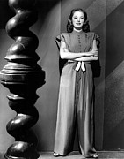 Mandarin Collar Framed Prints - Eleanor Parker, Wearing A One-piece Framed Print by Everett