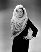 Turban Framed Prints - Eleanor Parker, Wearing A Turban Framed Print by Everett