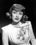 Embroidered Prints - Eleanor Parker Wearing An Embroidered Print by Everett