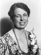 Eleanor Prints - Eleanor Roosevelt 1884-1962 In July Print by Everett