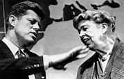Rs2wn Prints - Eleanor Roosevelt And Sen. John Kennedy Print by Everett