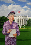 First Lady Mixed Media - Eleanor Roosevelt  by Cliff Spohn