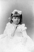 Hair Styles Framed Prints - Eleanor Roosevelts At The Age Of Five Framed Print by Everett