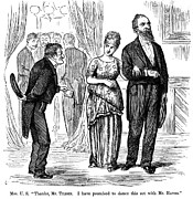 Ball Gown Prints - Election Cartoon, 1877 Print by Granger