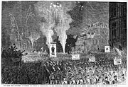 Rally Prints - Election Rally, 1868 Print by Granger