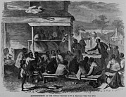 Slaves Prints - Electioneering In The South In Summer Print by Everett